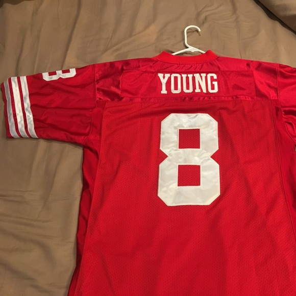 official photos 1906f 50631 Mitchell & Ness Throwback Jersey - Steve Young